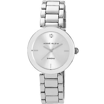 Anne Klein AK-N1363SV Uhr - Silber Stahl Diamant Silber Silber Aluminium Silber Damen