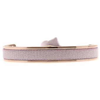 Les verwisselbare armband A47403-Jonc Ruban verwisselbare 6mm beige roze vrouwen