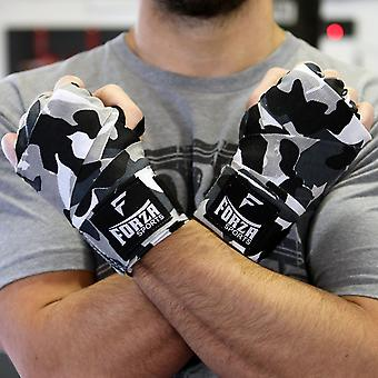 """Forza Sports 180"""" Mexican Style Boxing & MMA Handwraps - Factory Camo Gray/Black"""