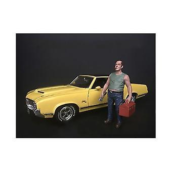 Mécanicien Sam avec figurine boîte à outils pour 1/24 modèles à l'échelle par Diorama américain