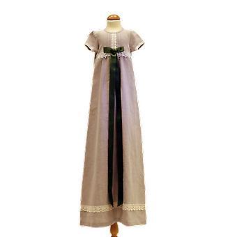 Dopklänning I Lin, Mörk Olivgrön Doprosett.  Grace Of Sweden