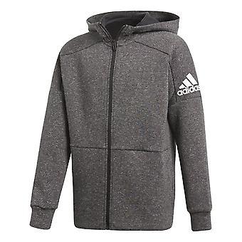 Adidas Boys Id Stadium Hoodie Dark Grey