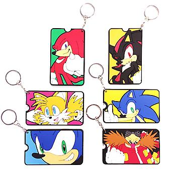 Sonic The Hedgehog Address Tag Luggage Tag Keychain 9cm Blindbag
