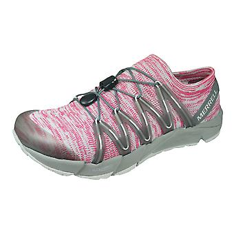 Merrell Bare Access Flex Knit Womens Trail Running Trainers / Shoes - Rose Red