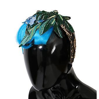 Dolce & Gabbana Blue Hair Sicily Floral Headband