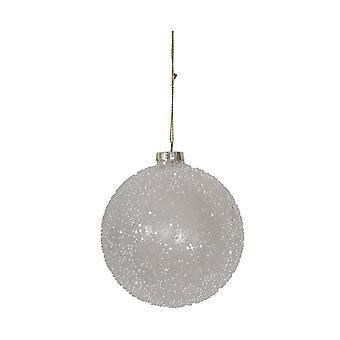 Licht & Living Weihnachten Bauble Runde 10cm Kugel Glas weiße Flecken