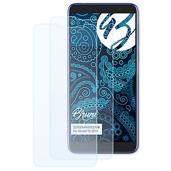 Bruni 2x Schutzfolie kompatibel mit Alcatel 1X 2019 Folie