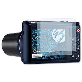 Bruni 2x Schutzfolie kompatibel mit Samsung WB800F Folie