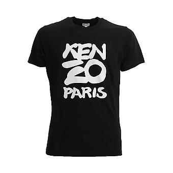 Kenzo Fa55ts0184sa99 Men's Black Cotton T-shirt