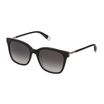 Furla SFU233 09G5 Black Glittery/Smoke Gradient Sunglasses