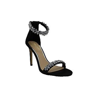 BADGLEY MISCHKA Womens Ramira Fabric Open Toe Casual Ankle Strap Sandals