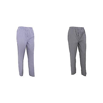 Premier Unisex Pull-on Chefs Trousers / Catering Workwear (Pack of 2)