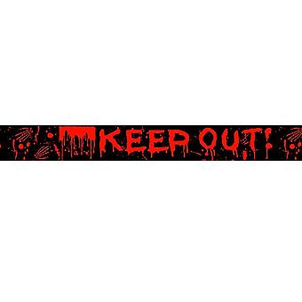 Scream Machine Halloween Keep Out Warning Tape (Pack Of 2)