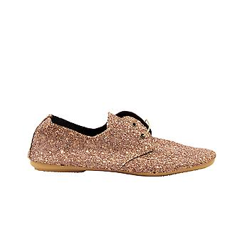 Anniel 2355lama263 Women's Gold/pink Glitter Lace-up Sko