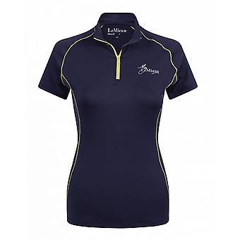 LeMieux Lemieux My Lemieux Womens Airtec Uv Shirt - Marine/citron