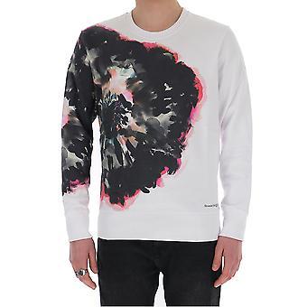 Alexander Mcqueen 609613qoza40900 Men's White Cotton Sweatshirt