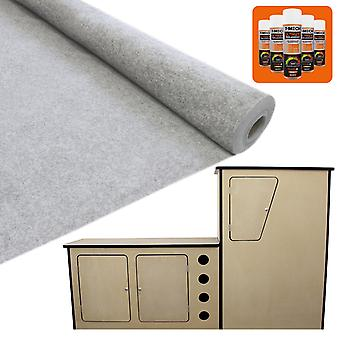 11m2 Van Lining Carpet Stretch 5 x Trim Fix Adhesive + Motor Home Camper Kitchen