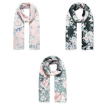 Jewelcity Dames /Dames Rose Print Sjaal