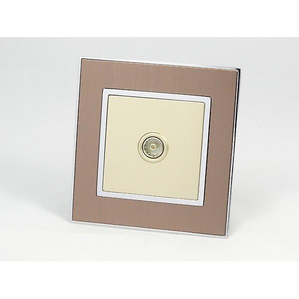I LumoS AS Luxury Gold Satin Metal Single TV Socket