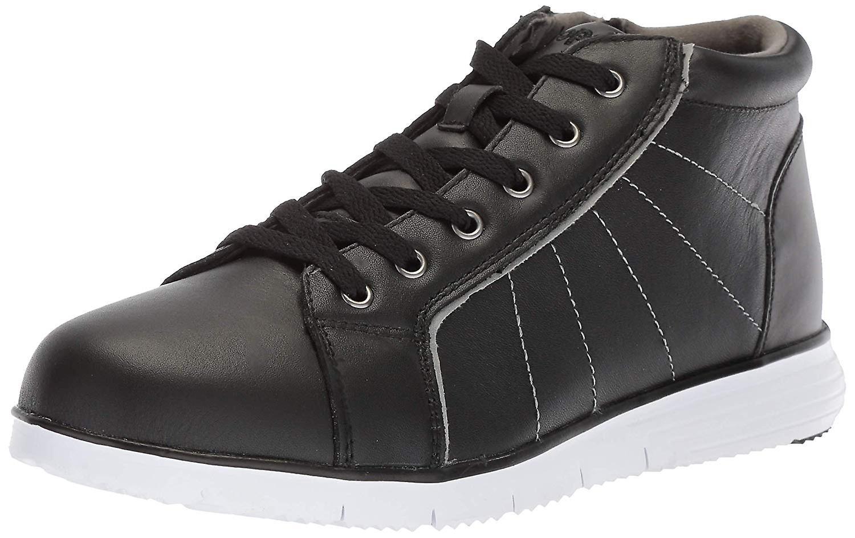 Propet Women&s TravelFit Bootie Sneaker, Czarna skóra, 6 Wąskie wąskie STANY USA T463Y