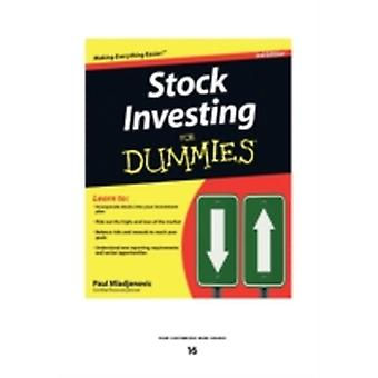 Stock Investing for Dummies Large Print 16pt by Mladjenovic & Paul