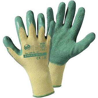 Polyester Garden glove Size (gloves): 9, L EN 388 CAT II L+D Green grip 1492SB 1 Pair