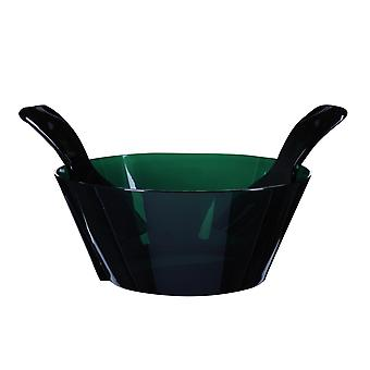 Mario Luca Giusti Fulmine Green Plastic Salad Bowl with Serving