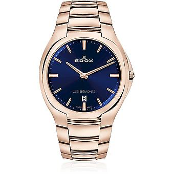 Edox - Wristwatch - Men - Les Bémonts - Ultra Slim Date - 56003 37R BUIR