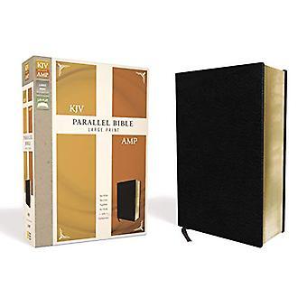 KJV - Amplified - Parallel Bible - Large Print - Bonded Leather - Bla