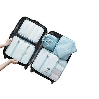 Set of organizing bags, 6 pcs-light blue