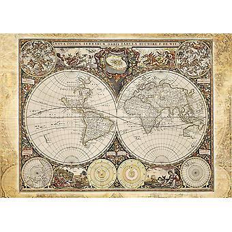 Carte historique de Schmidt du monde Puzzle Puzzle (2000 pièces)