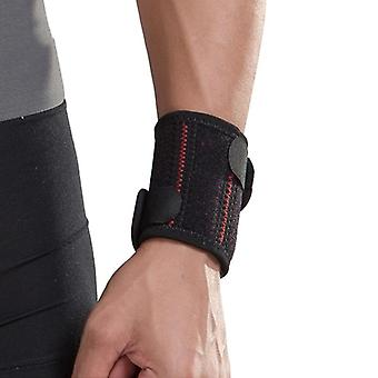 Customizable Wrist Protector - Black & Red