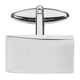 Orton West Plated Rectangle Cufflinks - Silver