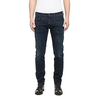 Replay Men's Jean Dark Indigo Power Stretch Denim
