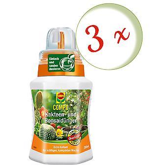 Sparset: 3 x fertilizzante cactus COMPO, 250 ml