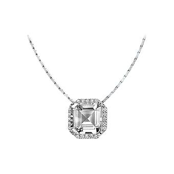 Jacques Lemans - Sterling Silver Necklace with White Topaz - SE-C104A