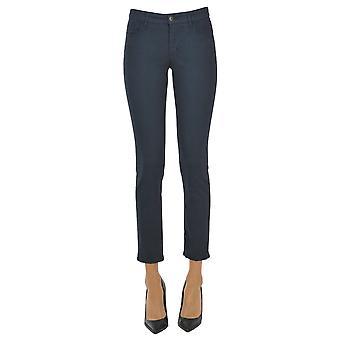 Atelier Cigala's Ezgl457011 Women's Blue Cotton Pants