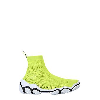 Red Valentino Tq0s0d86jmfbc5 Women's Yellow Elastane Hi Top Sneakers