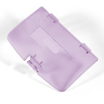 for Gameboy farge klart lilla erstatning batterideksel