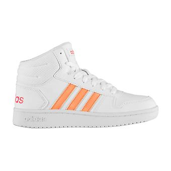 adidas Hoops Mid Trainers Junior Girls