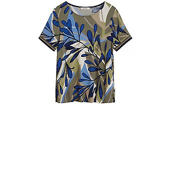 Sandwich Clothing Olive Bold Print Blouse