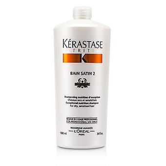 Nutritive bain satin 2 exceptional nutrition shampoo (for dry, sensitised hair) 91404 1000ml/34oz