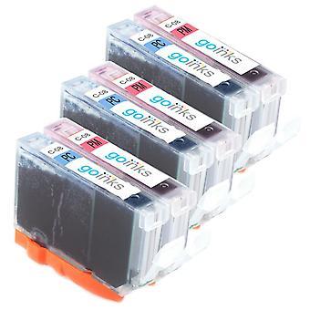 3 Valokuvasarja 2 mustekasettia korvaamaan Canon CLI-8PC & CLI-8PM Yhteensopiva / ei-OEM Go Inks (6 mustetta)