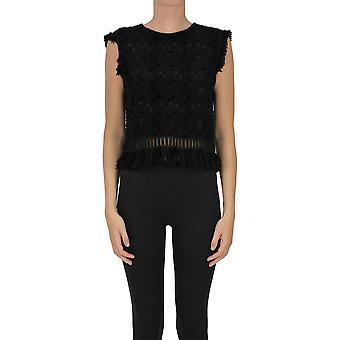 Ermanno Scervino Ezgl078060 Women's Black Wool Top