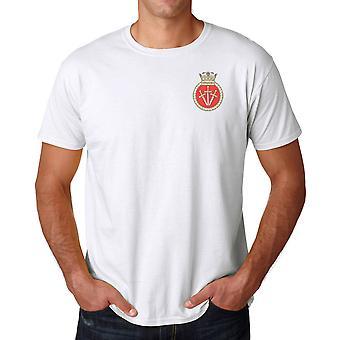 HMS Vengeance Embroidered Logo - Royal Navy Submarine Official MOD Ringspun T Shirt