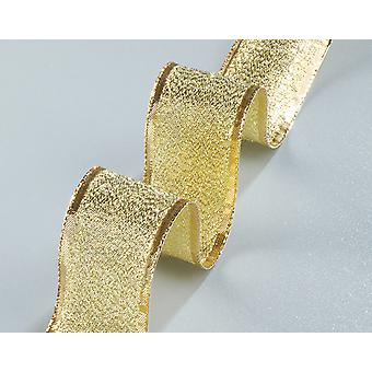 25m Goud 40mm Wide Luxe Metallic Lame Wired Craft Lint