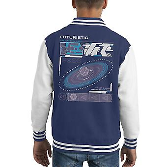 The Crystal Maze Futuristic Interface Solid Kid's Varsity Jacket