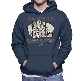 Garfield Coffee Mug Making Mondays Suck Less Since 1978 Men's Hooded Sweatshirt
