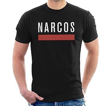 Narcos White Text Classic Logo Men's T-Shirt