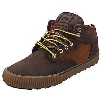Globe Motley Mid Mens Chukka Trainer in Brown Tan